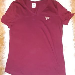 NWOT VS Pink Maroon Top Size Large